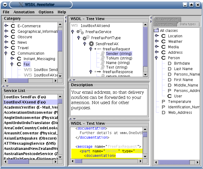 Project WSDL Annotator @ Semantic Web Services Repository